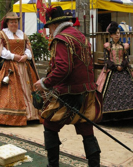 Burgundy Elizabethan Suit