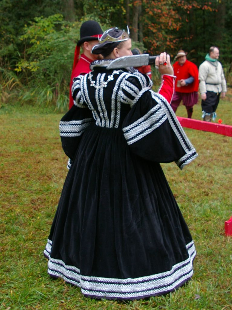 Black Tuscan Veste (gown)