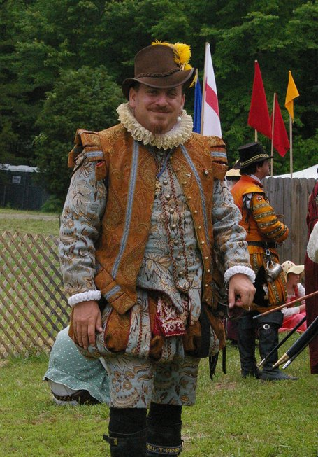 Blue and Rust Elizabethan Suit