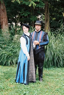 Elizabethan Couple in Blue & Black