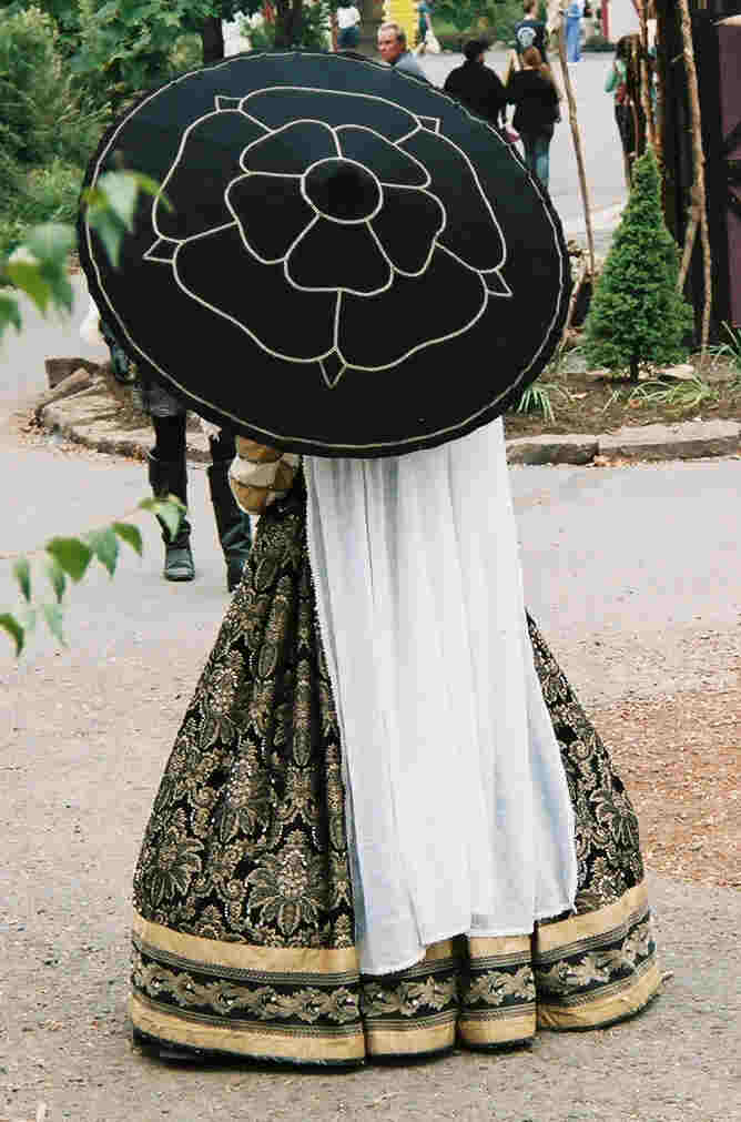 The Queen's Tudor Rose Parasol