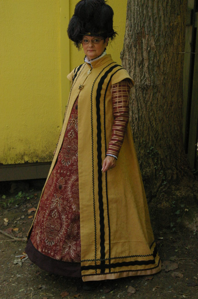 Yellow Pleated Surcoat (front)
